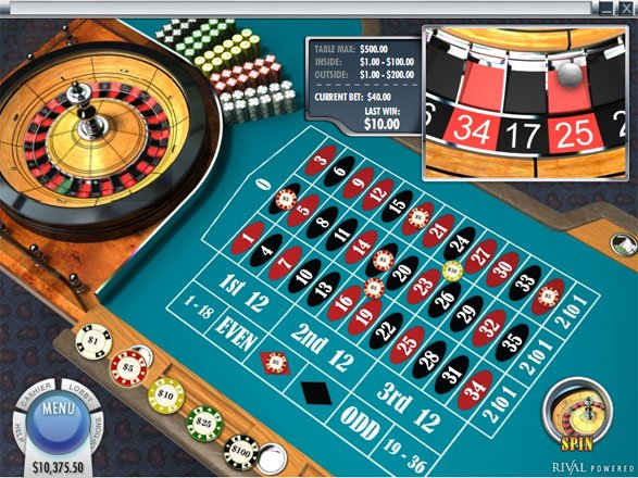 European Roulette from Rival Powered Casinos