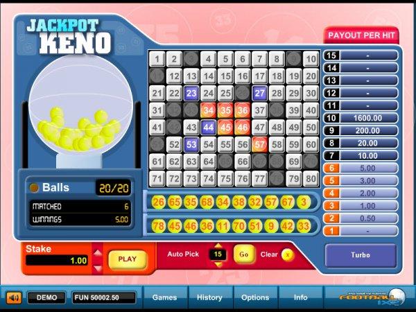 Odds of winning keno jackpot : Free spins