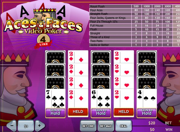 double bonus aces and faces rules and regulations