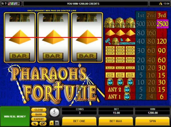 top online casino pharaoh s