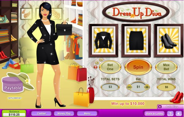Dress Up Diva Slots - Play this Game by NeoGames Online