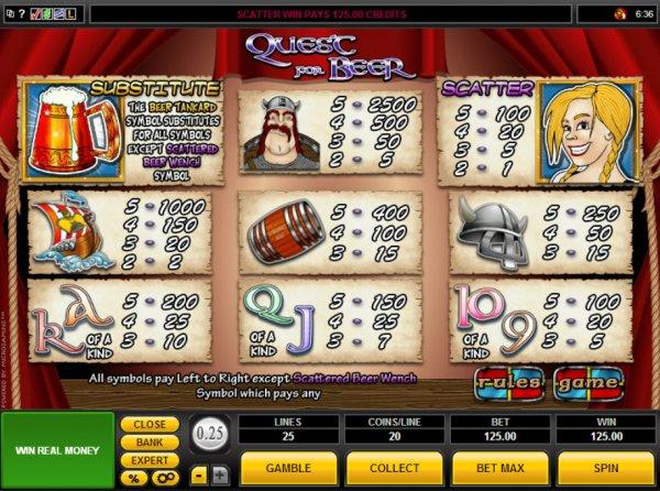 casino online list spiel quest