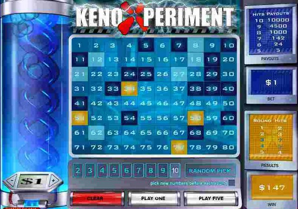 Play Keno Xperiment Arcade Game at Casino.com Canada