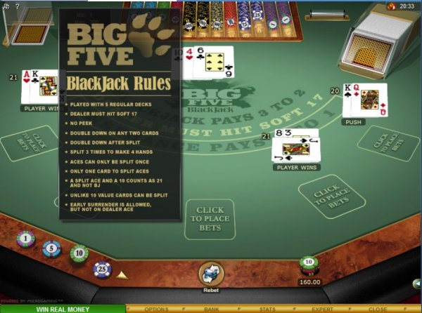 Play Blackjack Multihand 5 Online at Casino.com UK