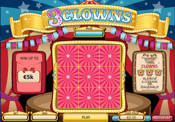 Play 3 Clowns Scratch at Casino.com UK