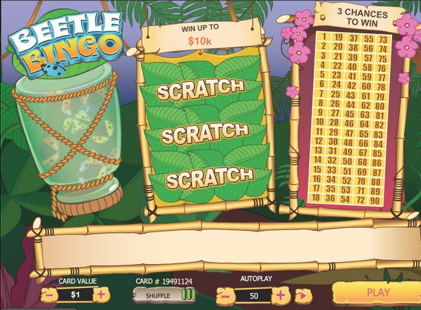 Play Beetle Bingo Scratch Online at Casino.com NZ