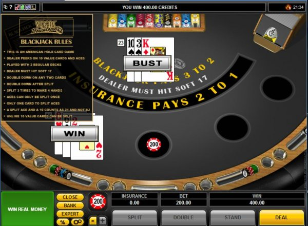 Las vegas blackjack rules casino