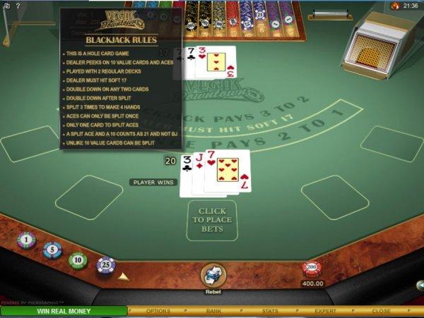 World Series of Blackjack Rules