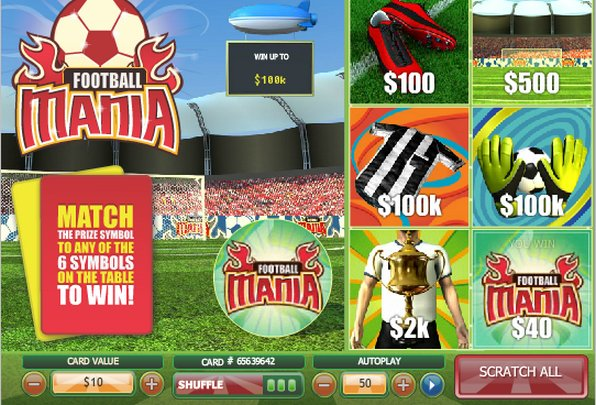 Play Football Mania Scratch Online at Casino.com Canada