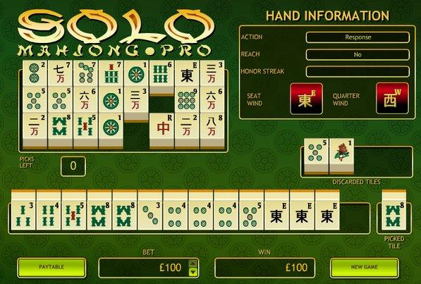 Mahjong gambling game