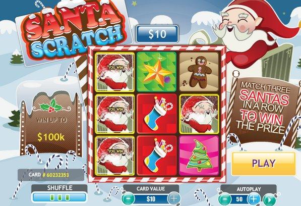 Play Santa Scratch Online at Casino.com Australia