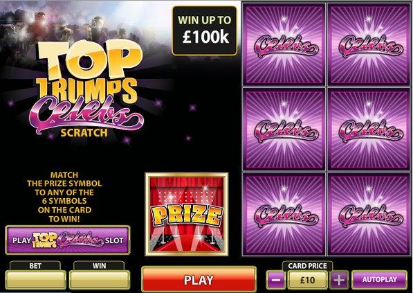 Play Top Trumps Celebs Scratch Online at Casino.com NZ
