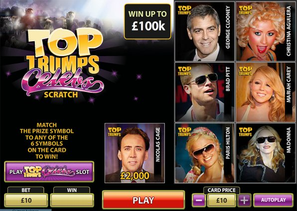 Play Top Trumps Celebs Scratch Online at Casino.com Australia