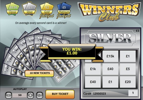 Play Winners' Club Scratch Online at Casino.com Canada