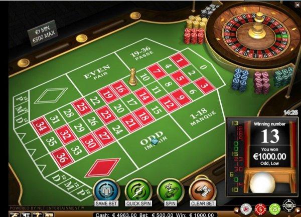 roulette advanced standard limit casino