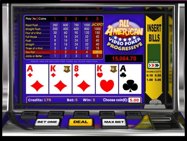 video slots online american pocker