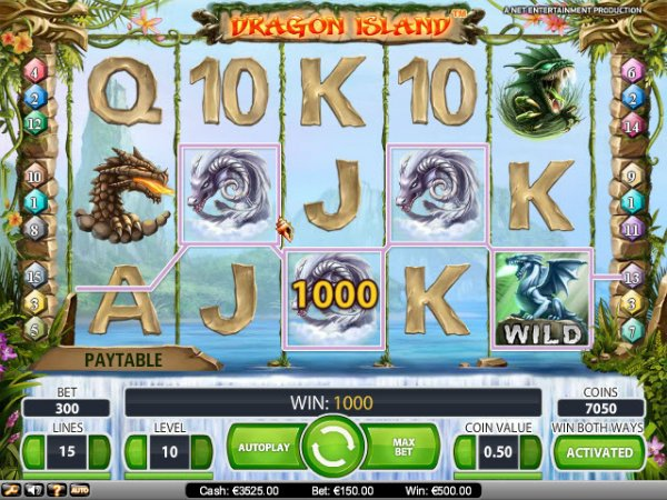 online real casino dragon island