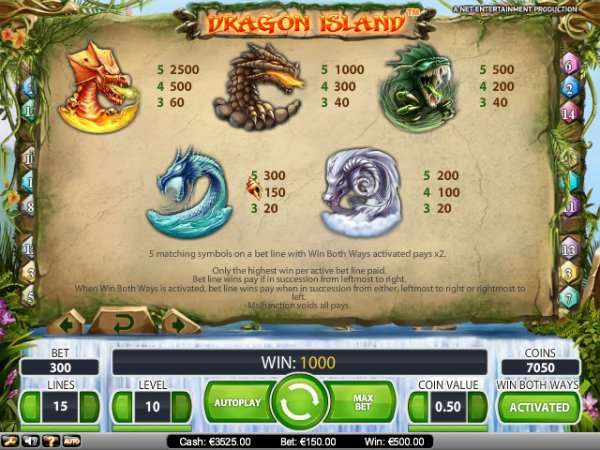 online gambling casino dragon island