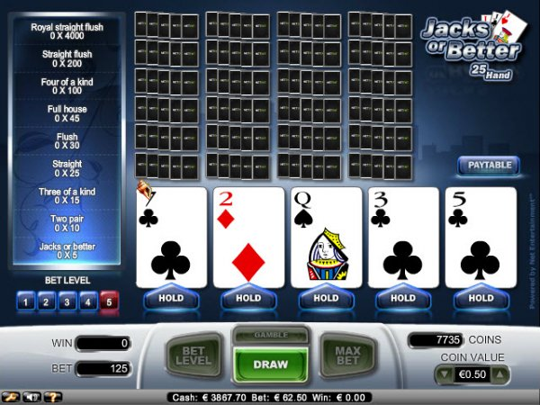 handheld jacks or better video poker