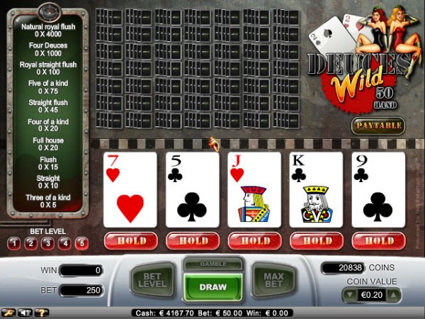 Deuces Wild Video Poker 50 Hand