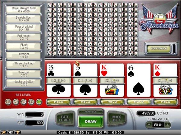 100-hand video poker