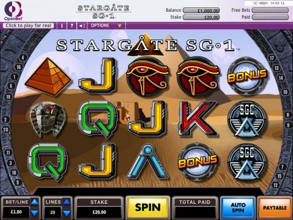 Stargate sg 1 slot