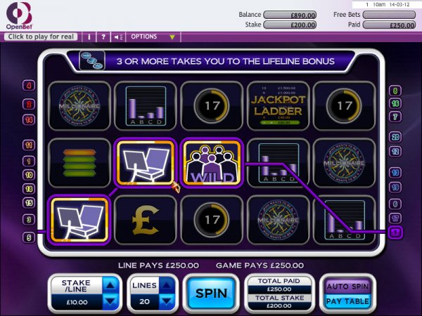 Play Who Wants to Be a Millionaire Slot Online