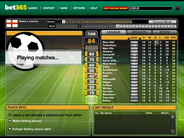 virtual football betting software