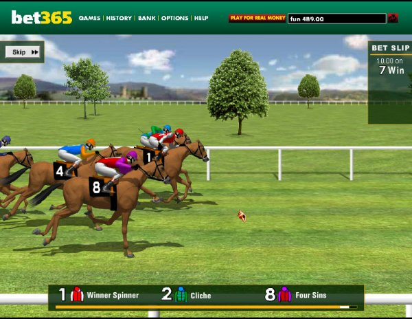 horse betting online games