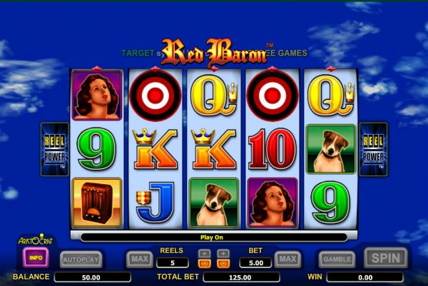 free slots games red baron