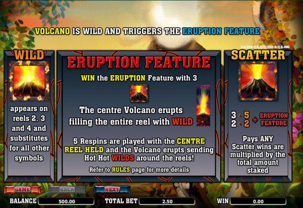juego de casino gratis hot hot volcano