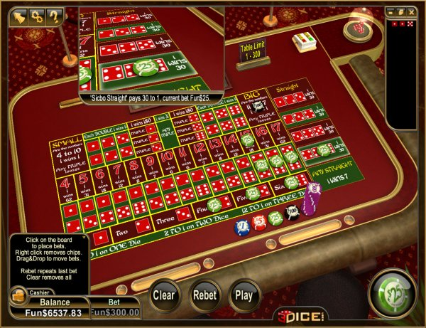 Play Sic Bo Table Games Online at Casino.com NZ
