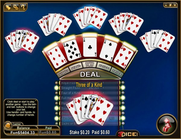Play Jacks or Better Multihand Video Poker at Casino.com South Africa
