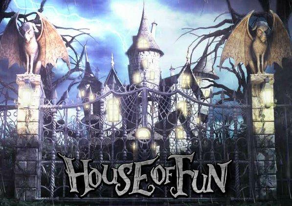 House of fun slots homepage design
