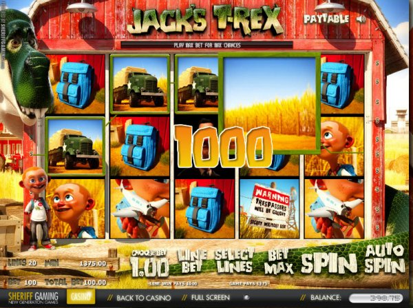 Jacks T-Rex Slots - Play Sheriff Gamings Jacks T Rex Slot for Free