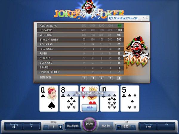 Как играть в Joker Poker