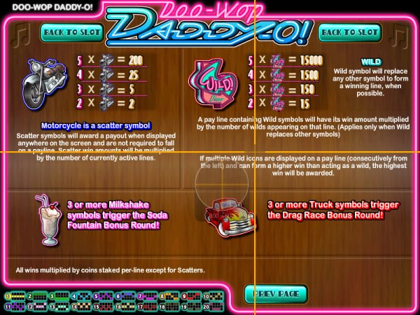 Doo Wop Daddy-O™ Slot Machine Game to Play Free in Rivals Online Casinos