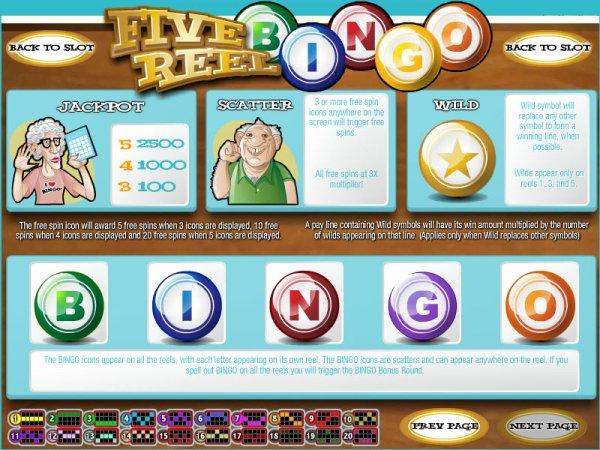 Five Reel Bingo Slot Machine Online ᐈ Rival™ Casino Slots