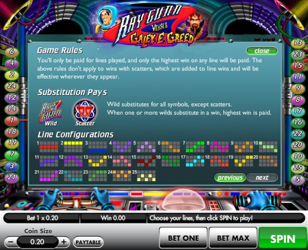 Ray Gunn Versus Galey E Greed Slot Machine