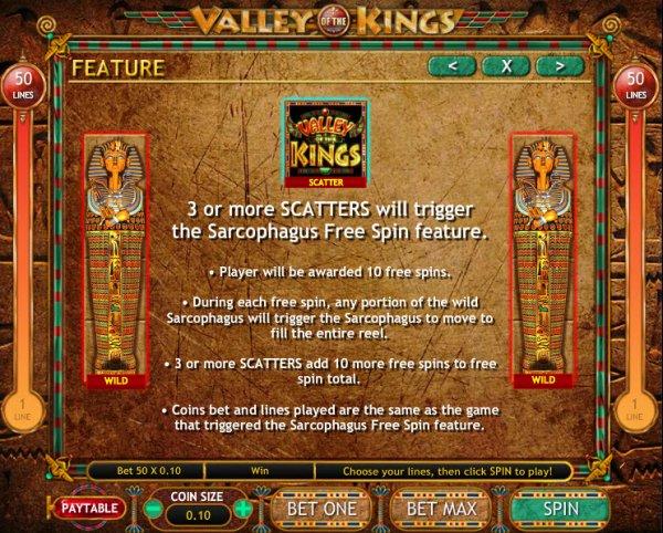 Valley of the Kings™ Slot Machine Game to Play Free in Genesis Gamings Online Casinos