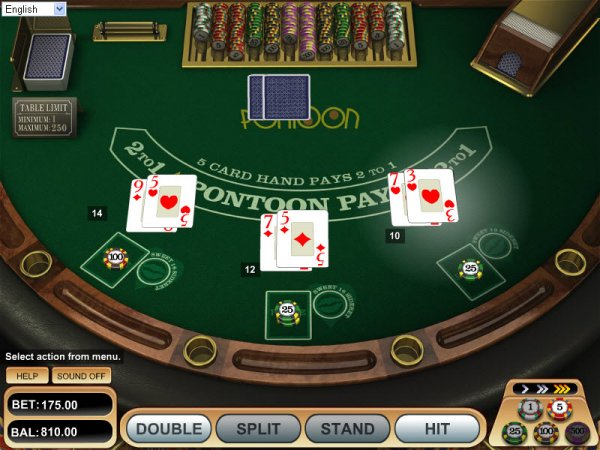 how to play pontoon card game