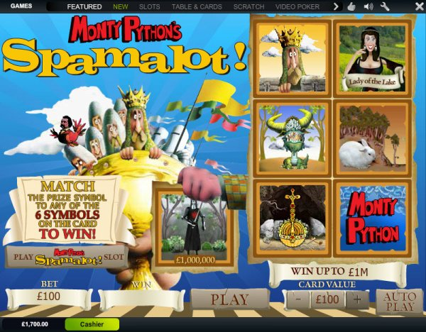 Play Spamalot Scratch Online at Casino.com Australia