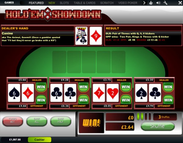 casino holdem by playtech online