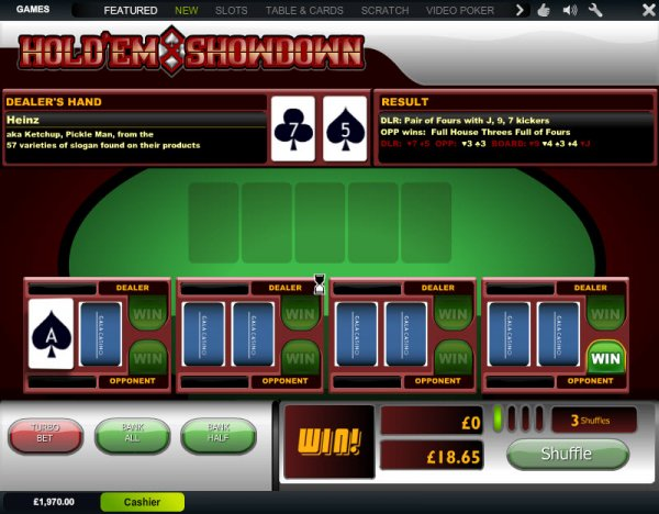 Play Hold em Showdown Arcade Games Online at Casino.com Australia
