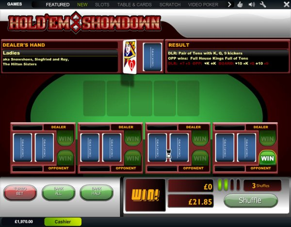 Play Holdem Showdown Arcade Games at Casino.com