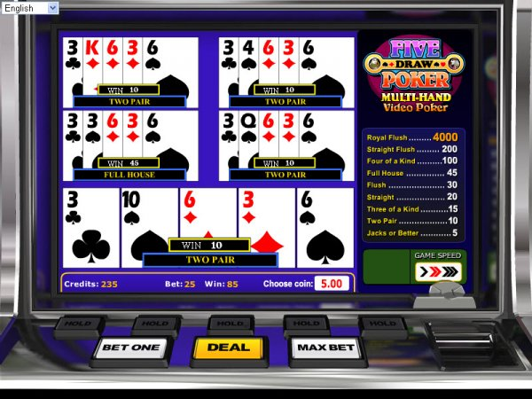 Five Draw Poker Multi Hand