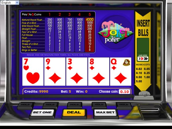 canadian online casino poker joker
