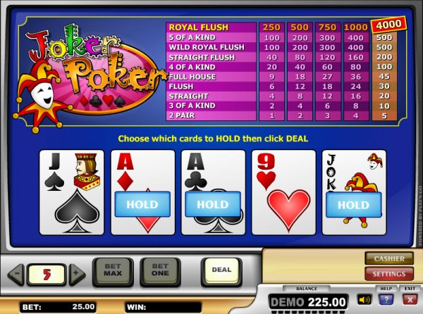 online casino paysafe poker joker