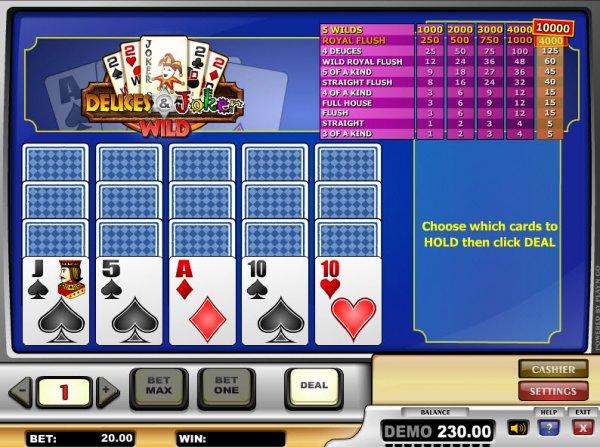 casino betting online joker poker