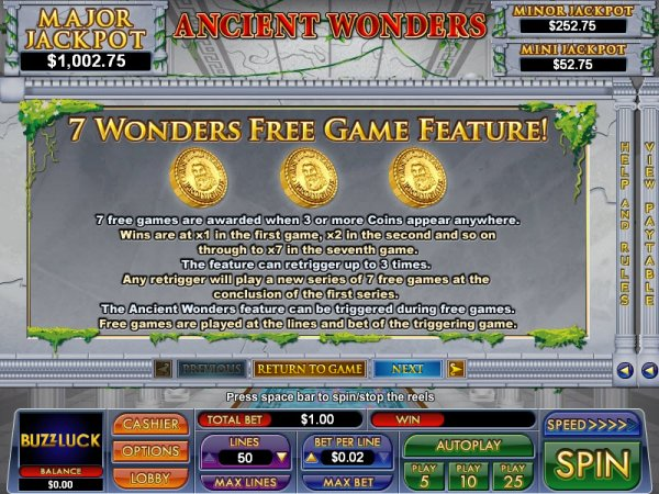Wonders of the Ancient World Slots - Play for Free Now